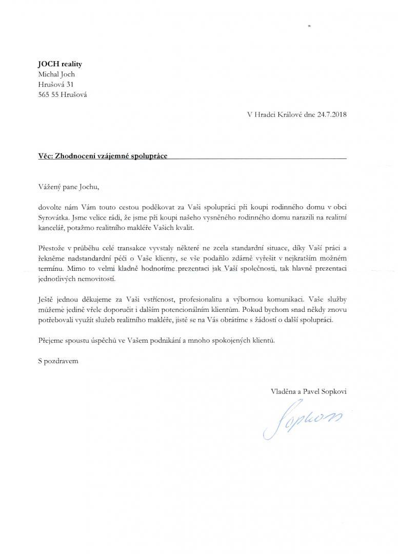 Prodej domu Syrovátka - Sopkovi