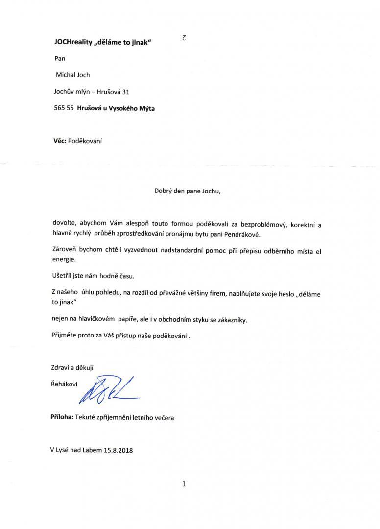 Pronájem bytu 2+kk Pardubice - Řehák