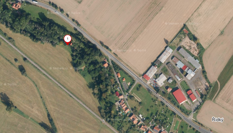 Chata v obci Řídký u Litomyšle