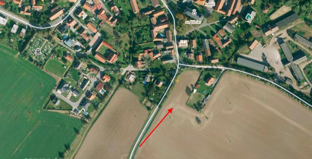 Pozemek 1361m2, Cerekvice nad Loučnou