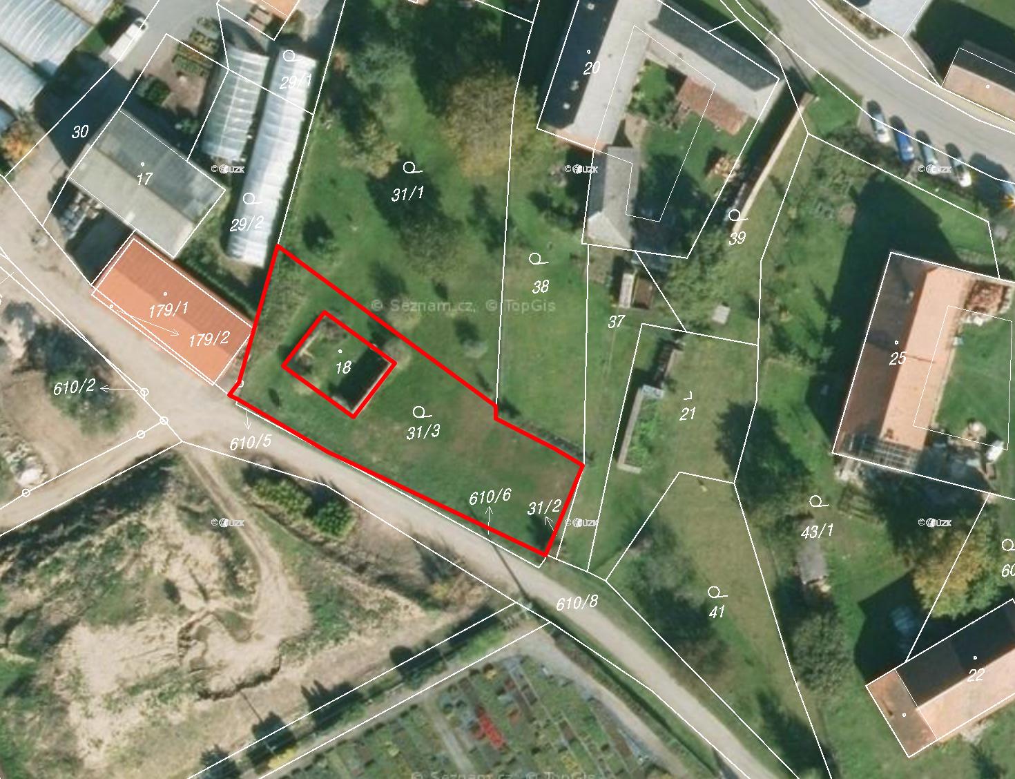 Prodej stavebního pozemku Strakov u Litomyšle