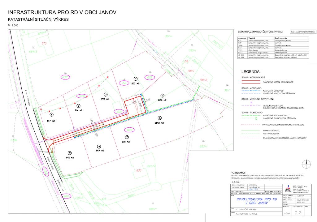 Stavební pozemek Janov - č.8